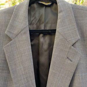 NW Brooks Brothers Brooksease Plaid Jacket, Sz 44L